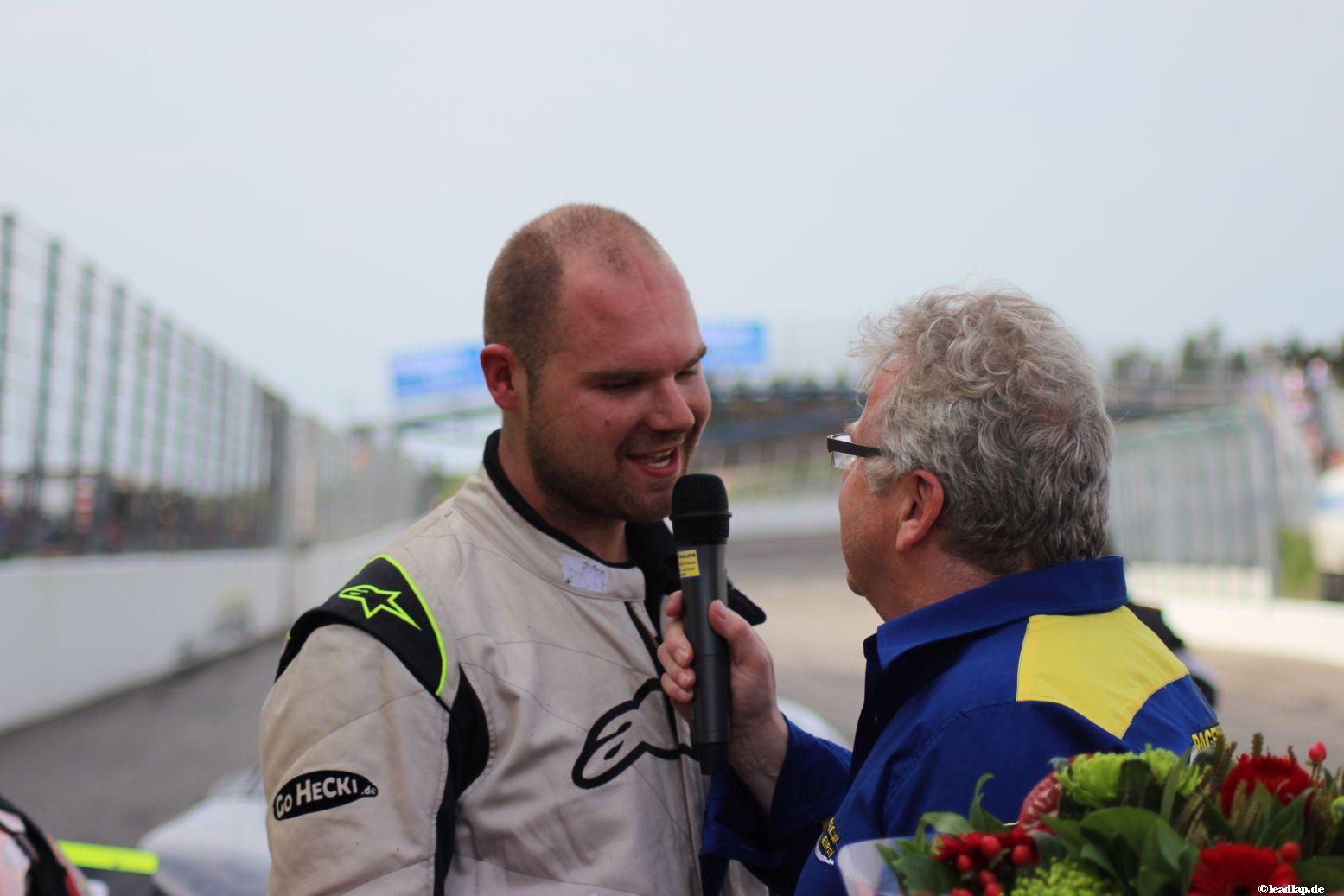 Patrick Heckhausen wird als Sieger interviewt © André Wiegold