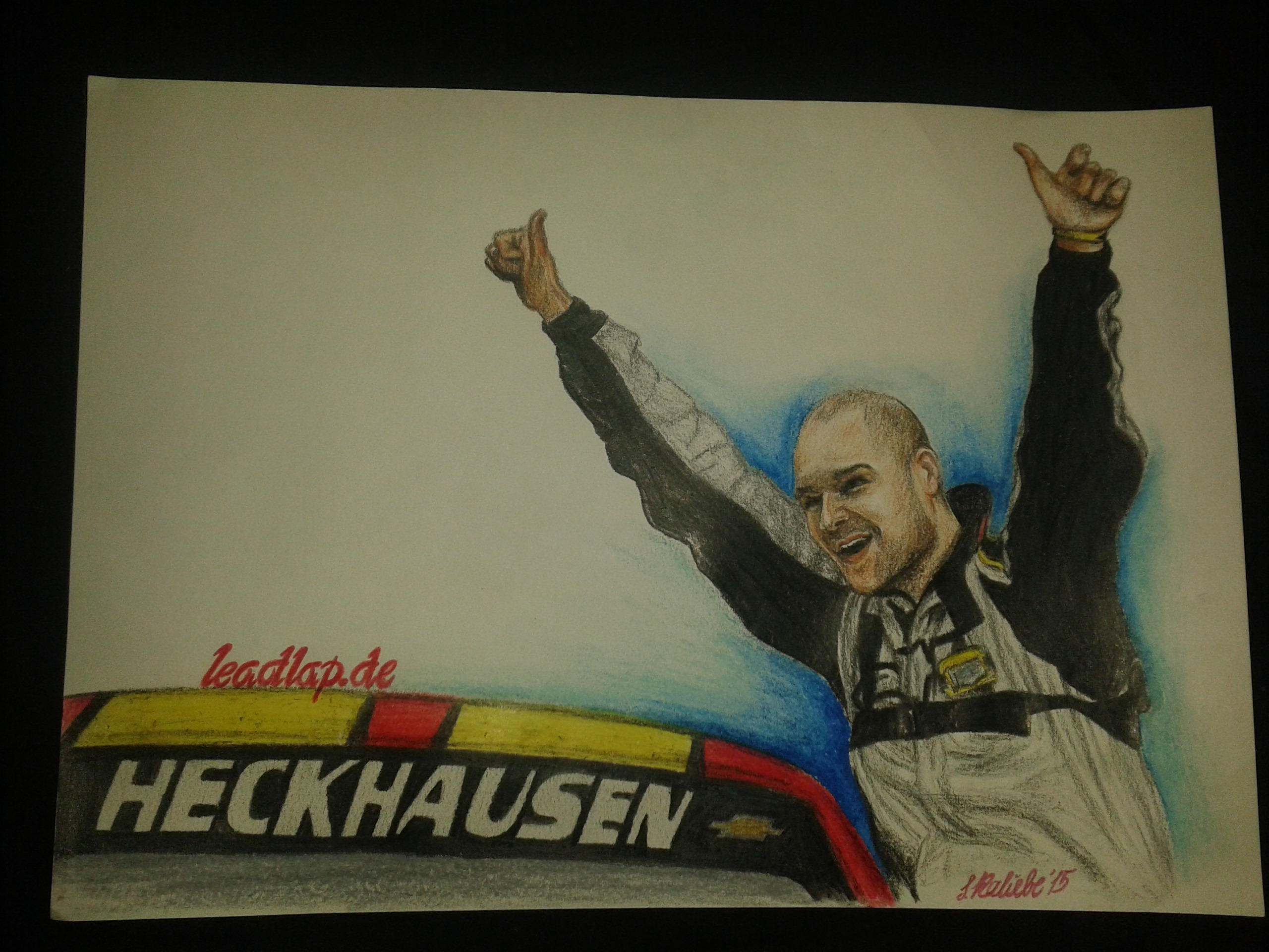 Patrick Heckhausens erster Sieg als Kunstwerk © Sarah Kaliebe (leadlap.de)